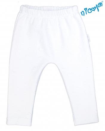 Dětské žakárové kalhoty Nicol Baletka - bílé, vel. 80
