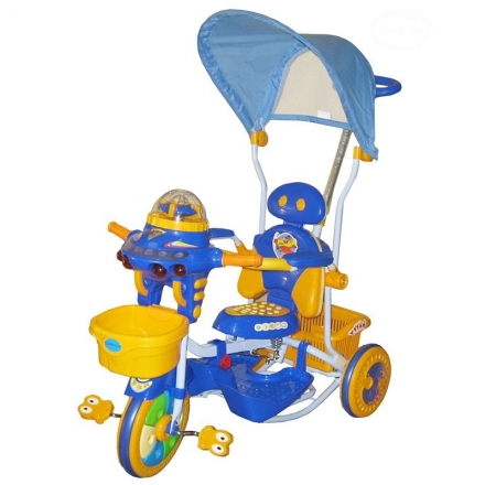 Dětská multifunkční tříkolka Euro Baby Ufo - modro/žlutá