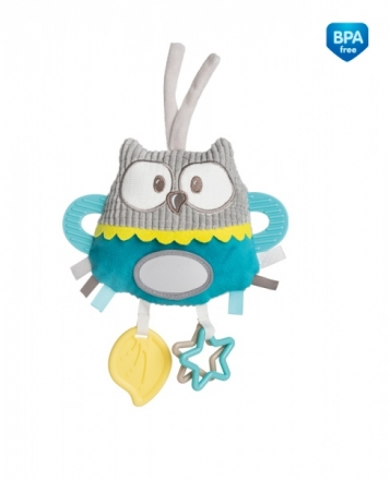 Plyšová edukační hračka na zavazování Canpol Babies - Sova tyrkysová