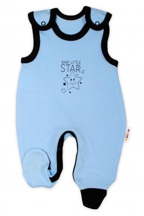 Kojenecké bavlněné dupačky Baby Nellys, Baby Little Star - modré, vel. 68 Baby Nellys