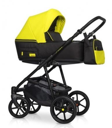 Dětský kočárek 2v1, Riko 2019 - Swift Neon - Crazy Yellow