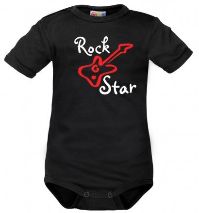 Body krátký rukáv Dejna Rock Star - černé, vel. 86