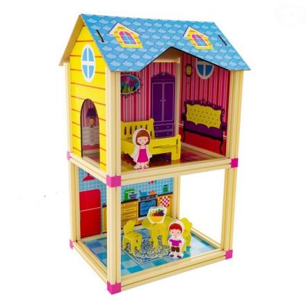 Malý domek pro panenky Euro Baby - modrý