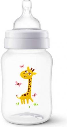 AVENT Antikoliková lahvička 260ml - Žirafka AVENT