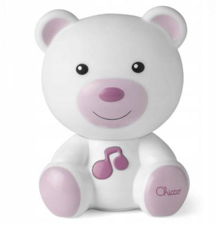 Noční lampička Chicco Medvídek - růžový Chicco