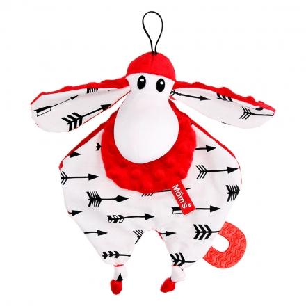 Hencz Toys Plyšová hračka v kontrastních barvách Sheepi - červená