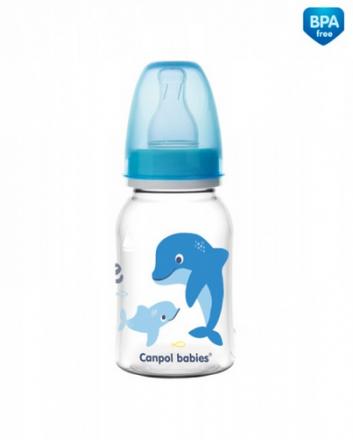 Canpol babies Lahvička s potiskem 120 ml Love&Sea - modrá Canpol Babies