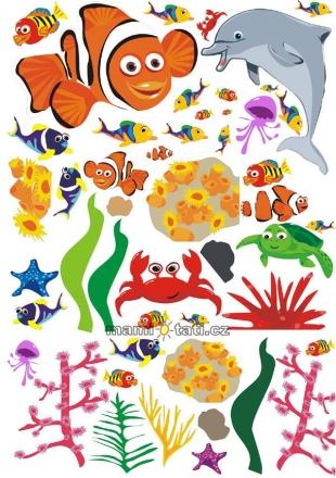 NELLYS Nálepky, dekorace na stěnu 70x100 cm - Oceán