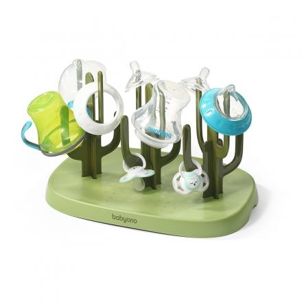 BabyOno Univerzální sušička, odkapávač na láhve a dudlíky - zelená