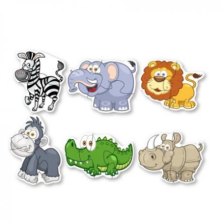 Puzzle velké zvířata z džungle