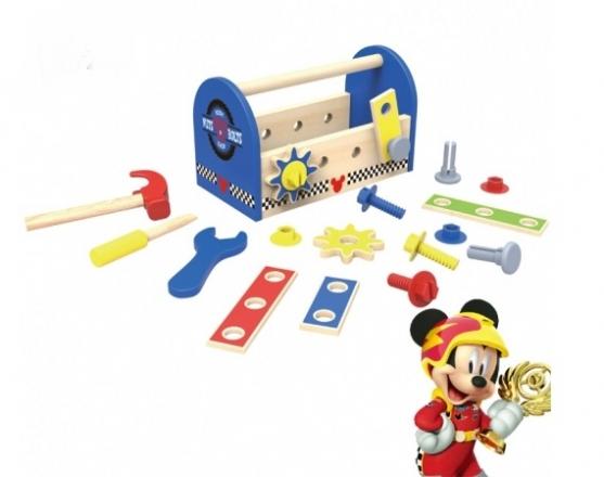 Dřevěné nářadí Disney v boxu , Mickey, 25 x 13 x 15 cm