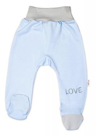 Baby Nellys Kojenecké polodupačky, modré - Love
