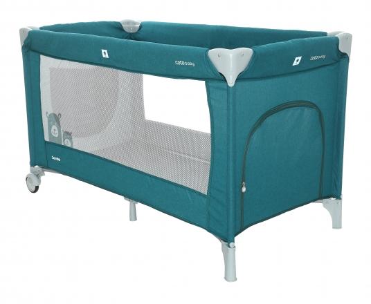 Coto Baby Cestovní postýlka Samba - Turquoise / Melagne
