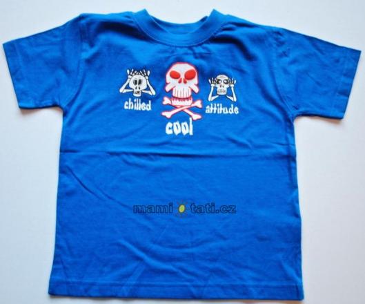 Dovoz EU Bavlněné tričko pro kluky - Lebky