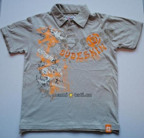 Dovoz EU Bavlněné tričko pro kluky vel. 6-7 let - Šedé s potiskem