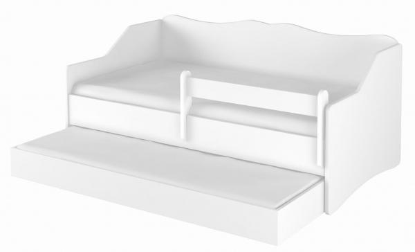 BabyBoo Dětská postel LULU 160 x 80 cm - bílá
