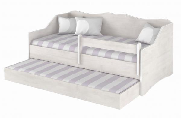 BabyBoo Dětská postel LULU 160x80cm - bílá surf,