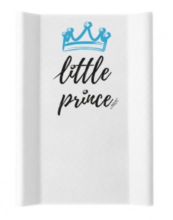 NELLYS Přebalovací podložka , měkká, vyvýšené boky, Little Prince, 50 x 70cm, bílá