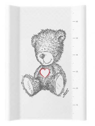 NELLYS Přebalovací podložka , měkká, vyvýšené boky, TEDDY, 50 x 70cm, bílá
