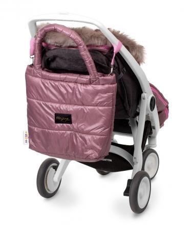 Baby Nellys taška na kočárek STYLE, pudrově růžová