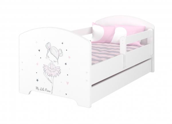 BabyBoo Dětská postel 160 x 80cm - Baletka + matrace a šuplík