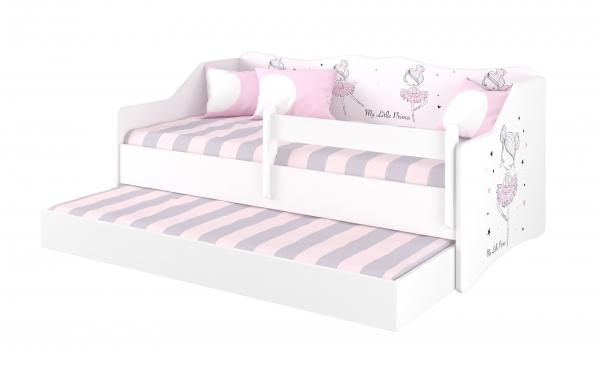 BabyBoo Dětská postel LULU 160 x 80 cm - Baletka