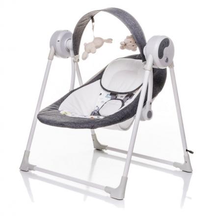 4 BABY Lehátko/houpačka pro kojence Swing - šedé