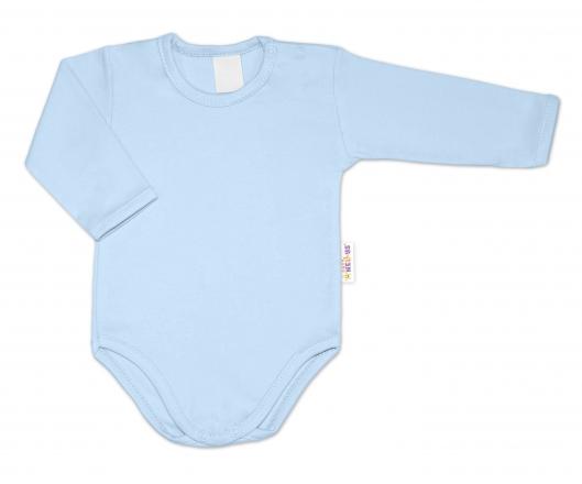 G-baby Dětské body dlouhý rukáv - světle modré, vel. 86