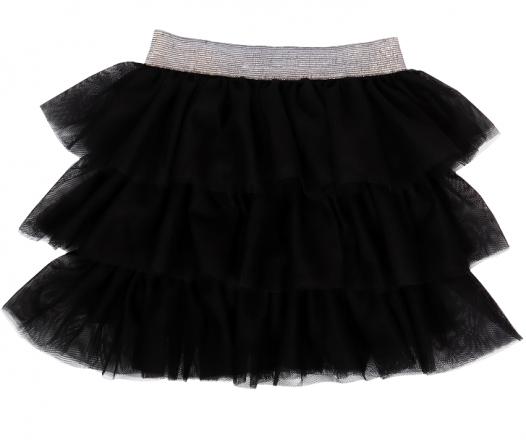Mamatti Kojenecká tylová sukně, Princezna Puntík - černá s šedým pasem, vel. 86/92/98