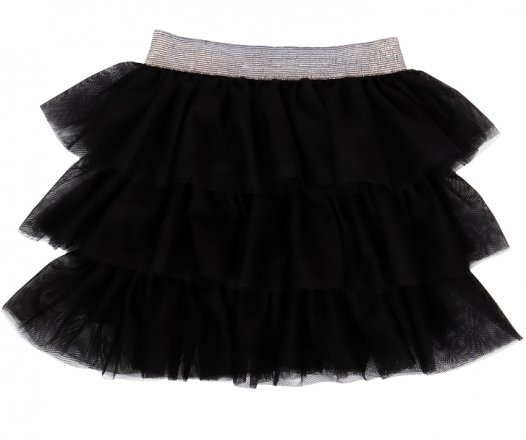 Mamatti Kojenecká tylová sukně, Princezna Puntík - černá s šedým pasem