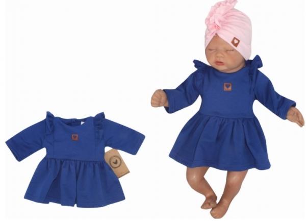 Z&Z Dětské teplákové šatičky/tunika Princess - tm.modré