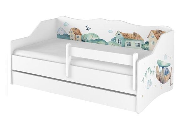 BabyBoo Dětská postel LULU 160 x 80 cm - Letadlo