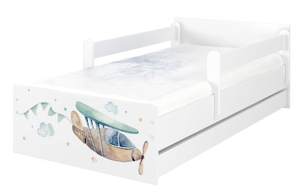 BabyBoo Dětská postel 160 x 80cm - Letadlo MAX + ŠUPLÍK