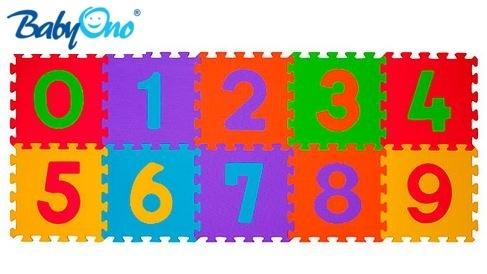 BabyOno Pěnové puzzle - Čísla - 10ks