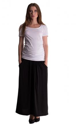 Be MaaMaa Maxi dlouhá sukně MAXINA - černá