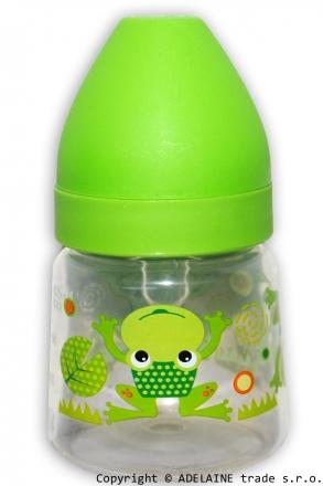 Lahvička Akuku 250ml - zelená s žabičkou