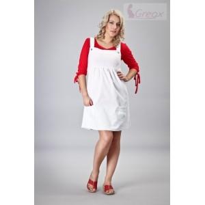 Gregx Elegantní šaty - bílá