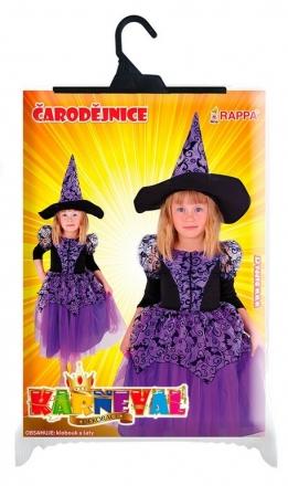 Dětský kostým čarodějnice fialová čarodějnice / Halloween (S)