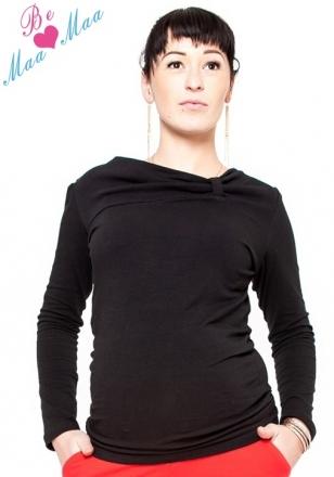 Be MaaMaa Těhotenské triko Vanessa - černé