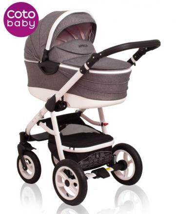Kočárek Aprilia Coto Baby 2v1 - len grey