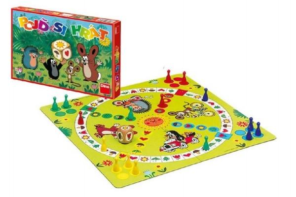 Pojď si hrát Krtek Člověče, nezlob se dětská společenská hra v krabici 33x23x3,5cm Dino