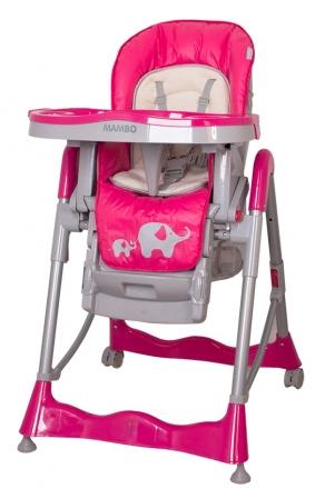 Jídelní židlička Coto Baby Mambo 2019 Hot Pink - Sloníci