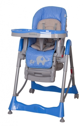 Jídelní židlička Coto Baby Mambo 2019 Blue - Sloníci