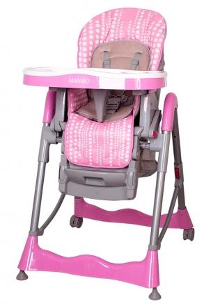 Jídelní židlička Coto Baby Mambo 2019 - Pink bubble