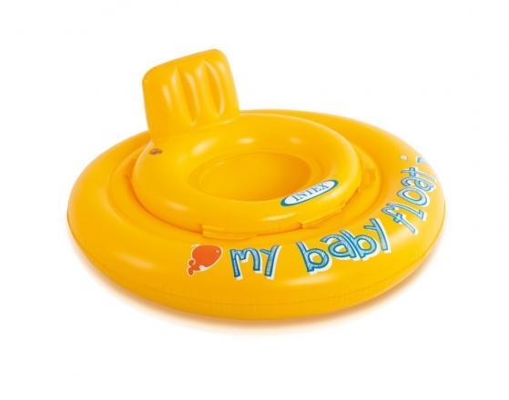 Nafukovací plavátko žluté, kulaté, 70 cm