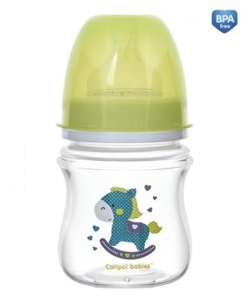 Canpol babies Antikoliková lahvička se širokým hrdlem Easy Start - TOYS 120 ml - zelená Canpol Babies