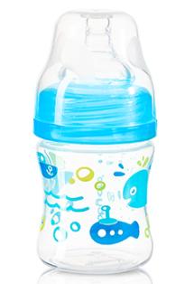 BabyOno Antikoliková lahvička se širokým hrdlem - modrá BABYONO