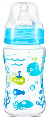 BabyOno Antikoliková lahvička se širokým hrdlem Baby Ono - modrá BABYONO