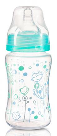 BabyOno Antikoliková lahvička se širokým hrdlem Baby Ono - tyrkysová BABYONO