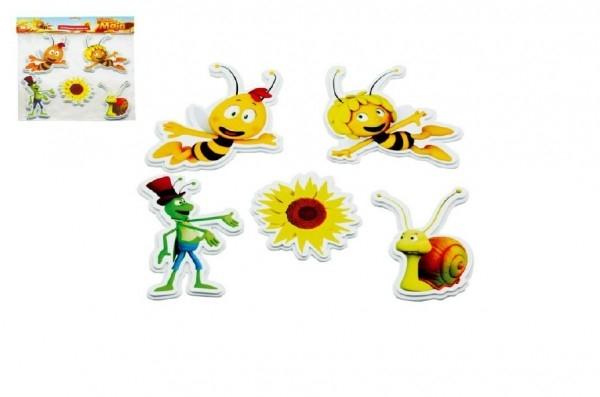 Pěnové dekorace na zeď Včelka Mája Slunečnice 5ks v sáčku 32x37cm TEDDIES